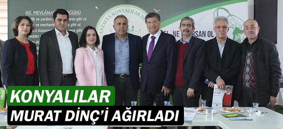 Konyalılar, Kepez Belediye Başkan Adayı Dr. Murat Dinç'i ağırladı