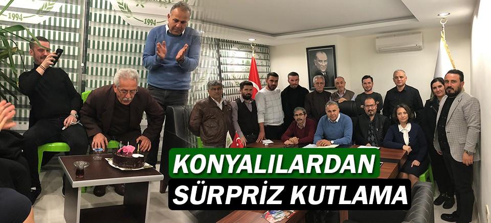 Konyalılardan Haydar Tokgöz'e sürpriz doğum günü