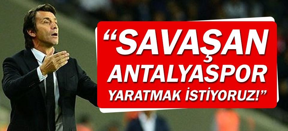 Korkmaz: Savaşan Antalyaspor yaratmak istiyoruz!