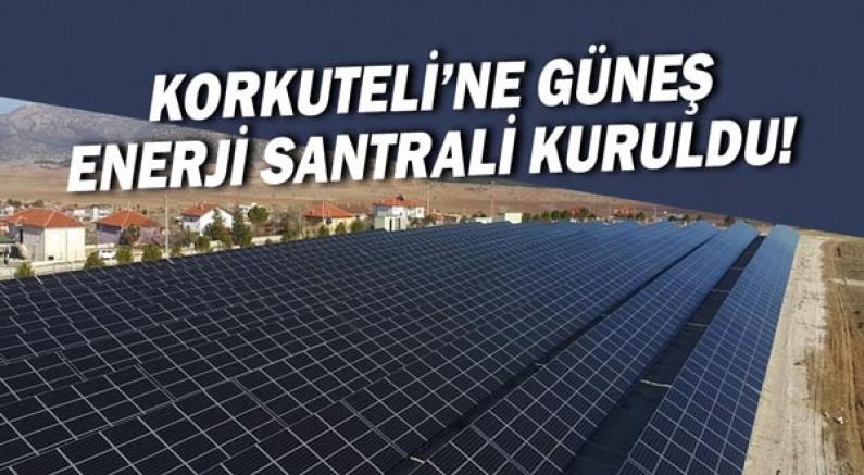 Korkuteli'ne Güneş Enerji Santrali kuruldu!