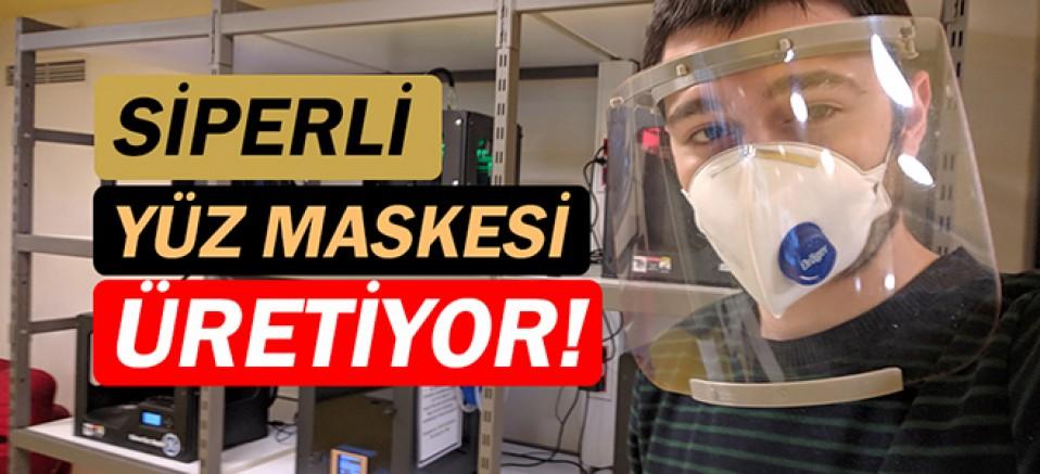 Koruyucu siperli yüz maskesi üretiyor!