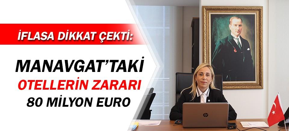 Manavgat'taki otellerin 80 milyon euro zararı var!