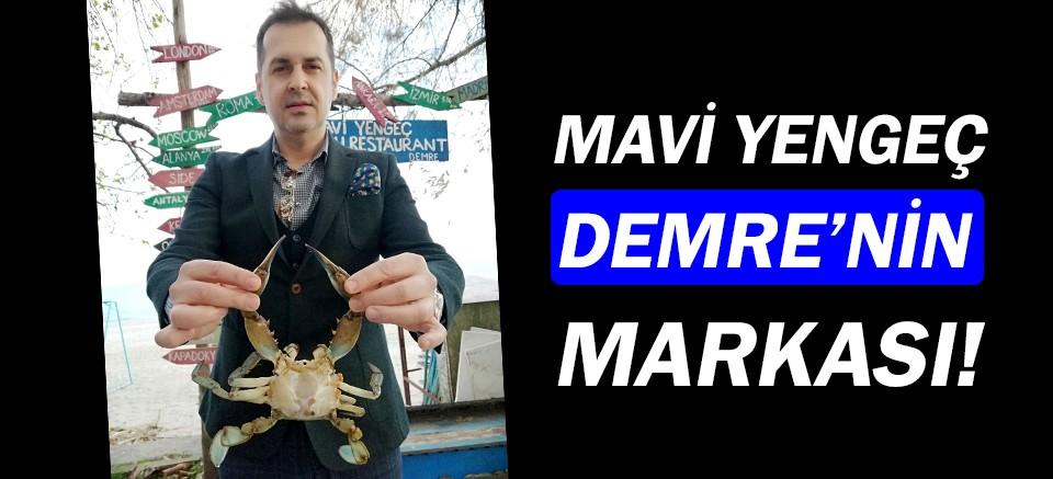 Mavi yengeç, Demre'nin markası oldu!