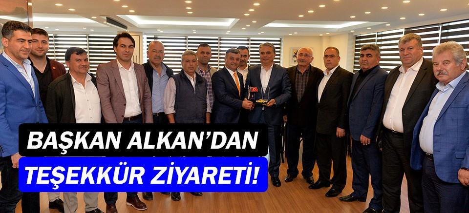 Mehmet Ali Alkan'dan Ümit Uysal'a teşekkür ziyareti