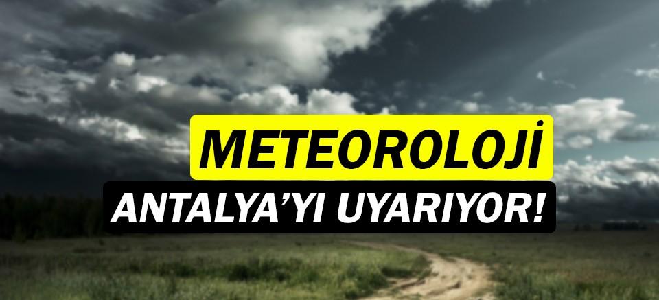 Meteoroloji uyardı! |Antalya'da kuvvetli rüzgar!
