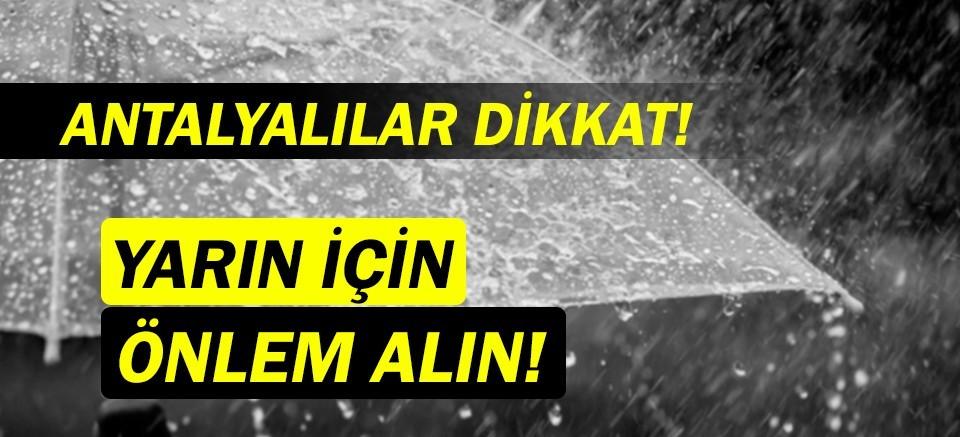 Meteoroloji uyardı! |Antalya Hava Durumu| Antalya'ya yağmur geliyor!