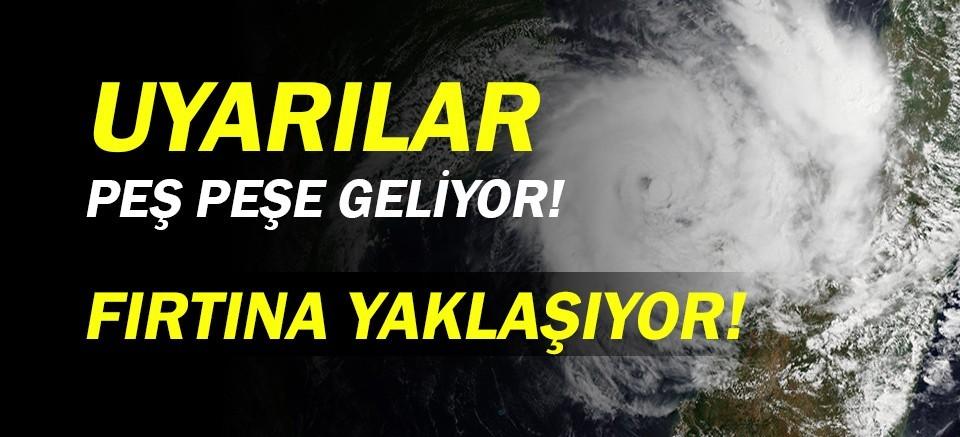 Meteoroloji uyardı!  Antalya Hava Durumu   Fırtına geliyor!