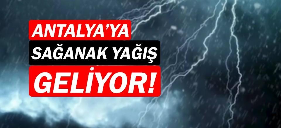 Meteoroloji uyardı!   Antalya Hava Durumu   Sağanak yağış uyarısı!