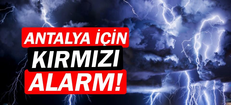 Meteoroloji uyardı! |Antalya için kırmızı alarm verildi!