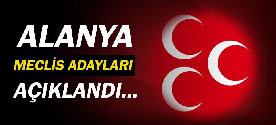 MHP'nin Alanya Meclis Üyesi Adayları açıklandı!