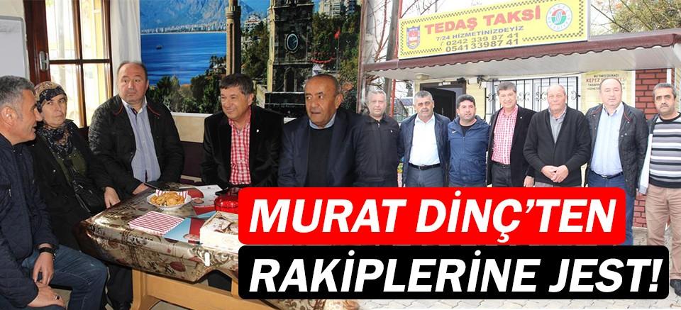 Murat Dinç taksici esnafıyla buluştu