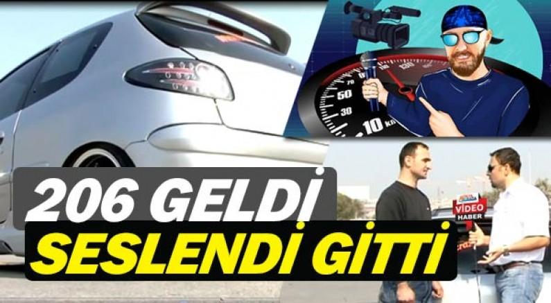 Murat Seyirci'nin konuğu İstanbullu modifiyeli 206 GTI