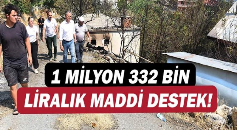 Muratpaşa'dan 1 milyon 332 bin liralık maddi destek.
