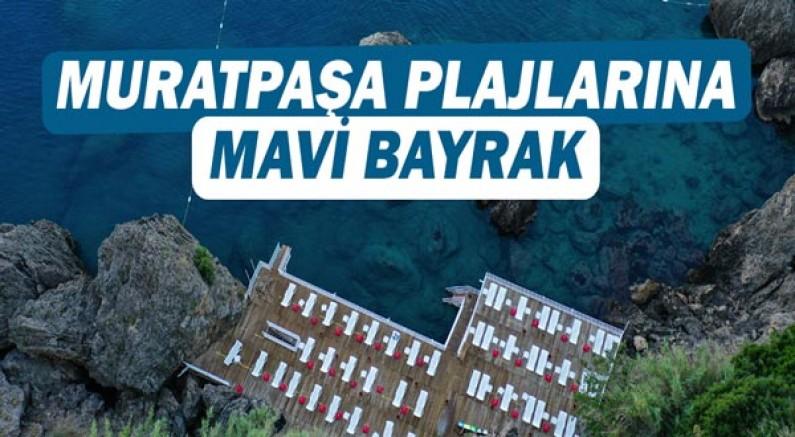 Muratpaşa plajlarına Mavi Bayrak