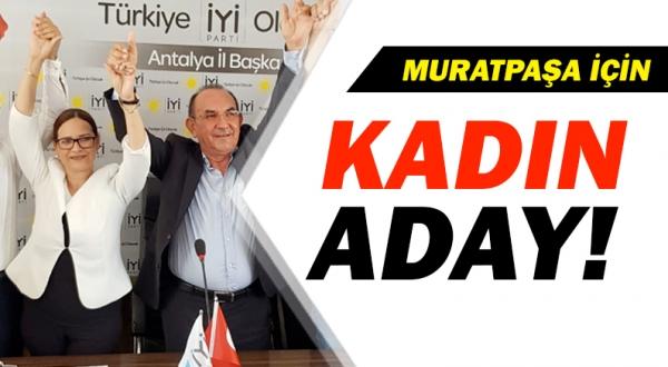 Muratpaşa'ya kadın aday!