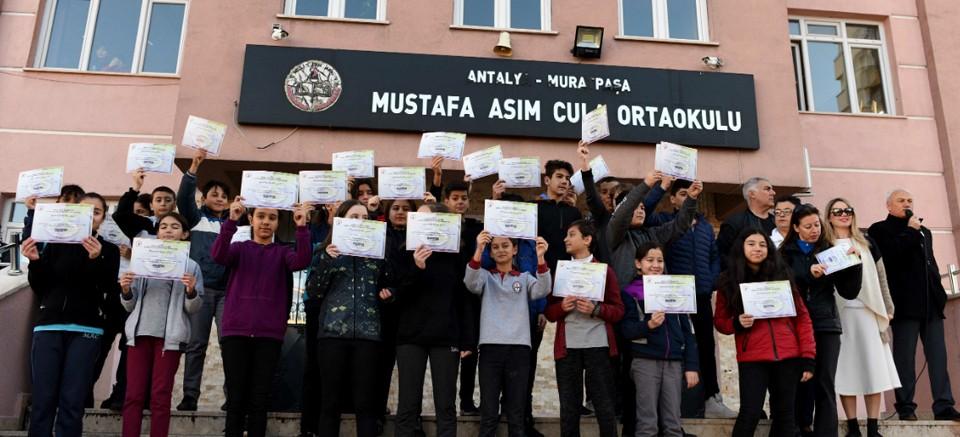 Mustafa Asım Cula Ortaokulu'nda çevreci çalışma