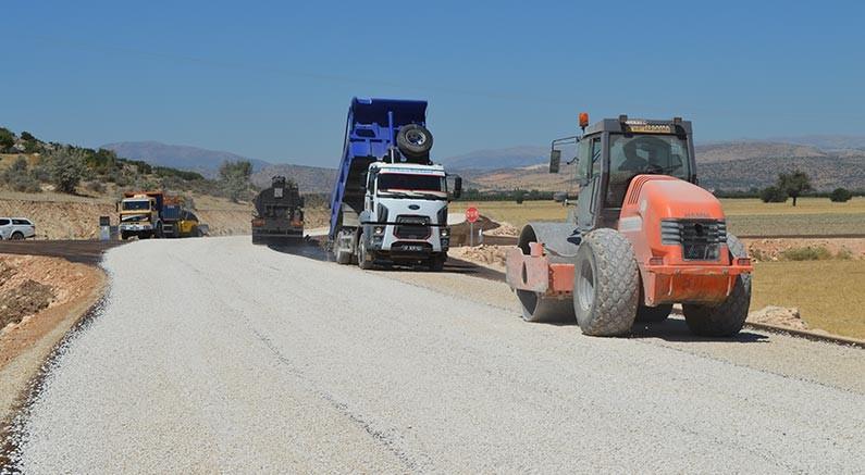 Naldöken yolu asfaltlanıyor