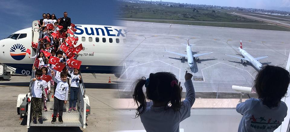 Neşeli Ayaklar Lara'dan Antalya Havalimanı Gezisi