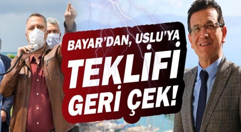"""Nusret Bayar, Atay Uslu'ya  teklifi geri çek!"""" çağrısı yaptı."""