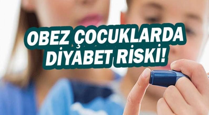 Obez çocuklarda diyabet riski yüksek