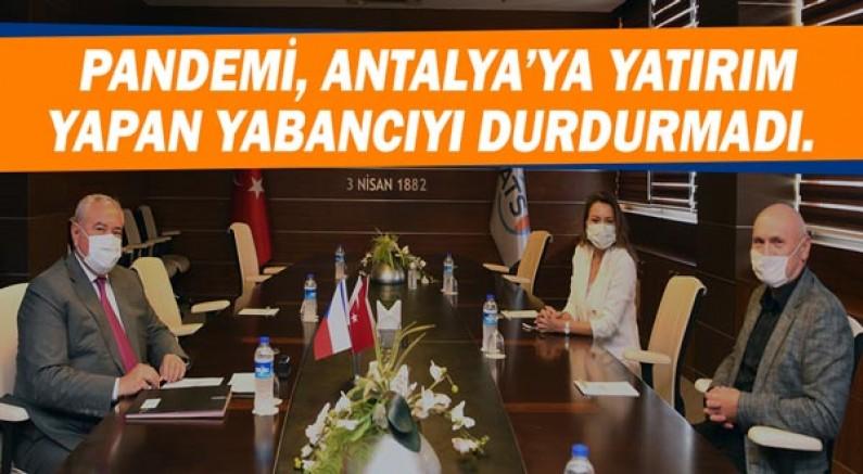 Pandemi Antalya'ya yatırım yapan yabancıyı durdurmadı