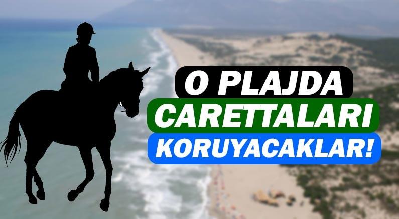 Patara Plajı'nda caretta carettalar atlı polislerin korumasında olacak!