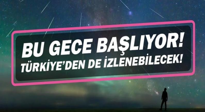 Perseid meteor yağmuru bu gece başlıyor! Türkiye'den de izlenebilecek!