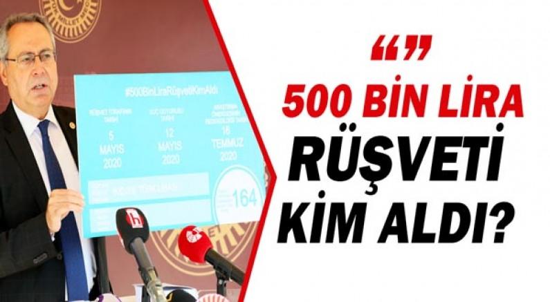 Rafet Zeybek: Rüşveti bilen iki bakanın sessizliği suçtur!