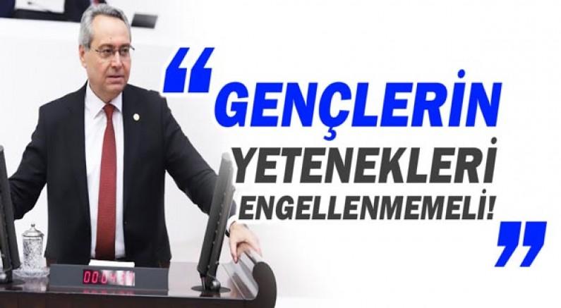 Rafet Zeybek sordu: Özel yetenek sınavı neden yapılmamaktadır?