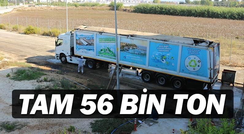 Serik'ten 56 bin 704 ton çöp transfer edildi.