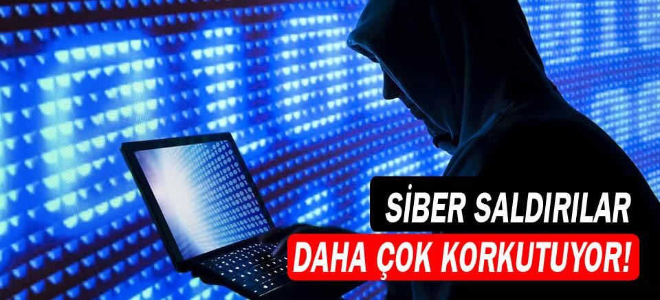 Siber saldırılar daha çok korkutuyor!