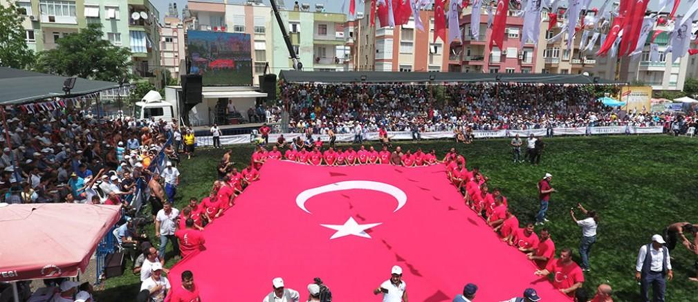 Son er meydanı Muratpaşa'da kuruluyor...