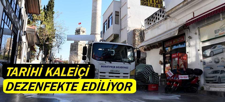 Tarihi Kaleiçi dezenfekte ediliyor