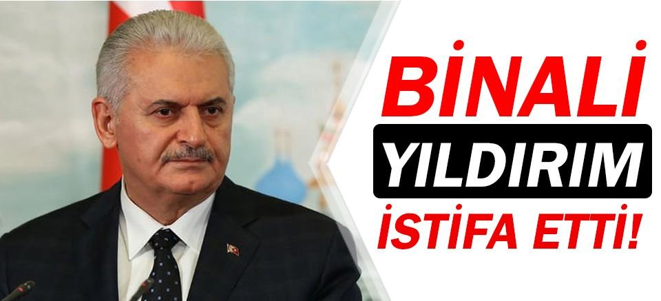 TBMM Başkanı Binali Yıldırım istifa etti!