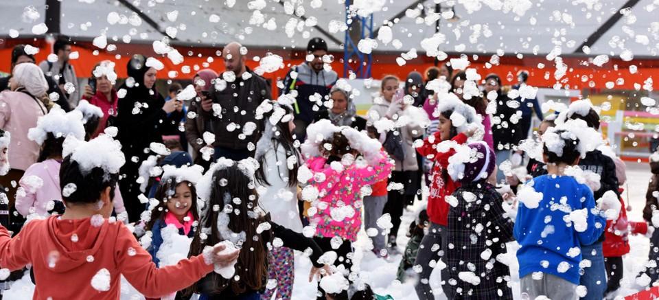 Teneffüs Park'ta kar fırtınası!