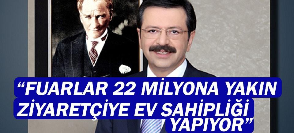 TOBB Başkanı M. Rifat Hisarcıklıoğlu Dünya Fuarcılık Günü dolayısıyla mesaj yayınladı