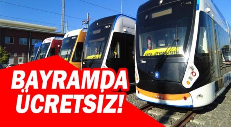 Toplu ulaşım araçları bayramda ücretsiz!