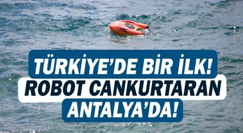 Türkiye'de ilk defa Antalya'da! İnsansız cankurtaran hayat kurtaracak!