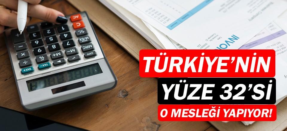 Türkiye'nin yüzde 32'si serbest meslekle uğraşıyor!