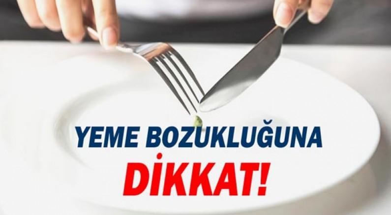 Yeme bozukluğuna dikkat!